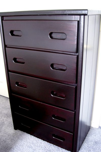 How to refinish a chest of drawers