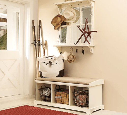 diy entryway bench. Black Bedroom Furniture Sets. Home Design Ideas