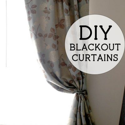 DIY Lined Drapery Panels