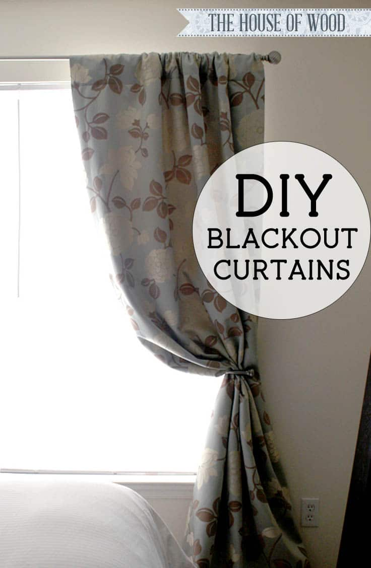 Diy Blackout Lined Curtains