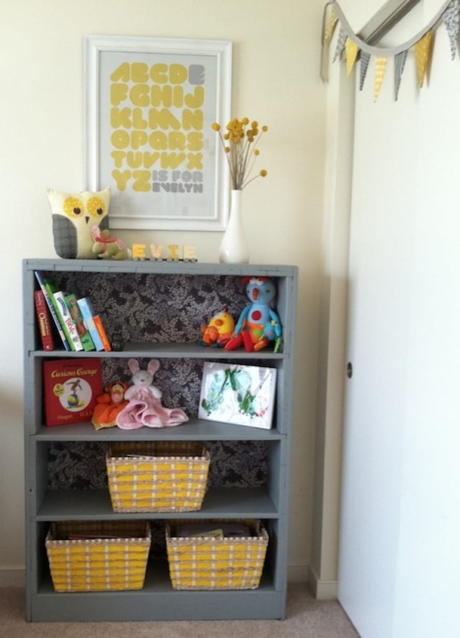 little live the a bookshelf bookcase yellow wilder