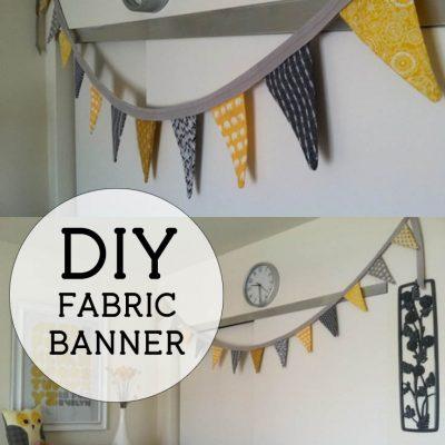 DIY Fabric Bunting Banner