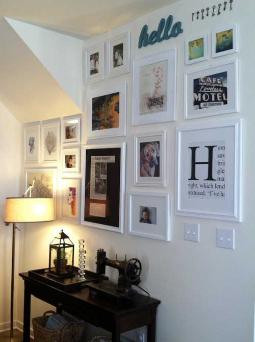 Salon style gallery wall for I ve been seeing angels in my living room