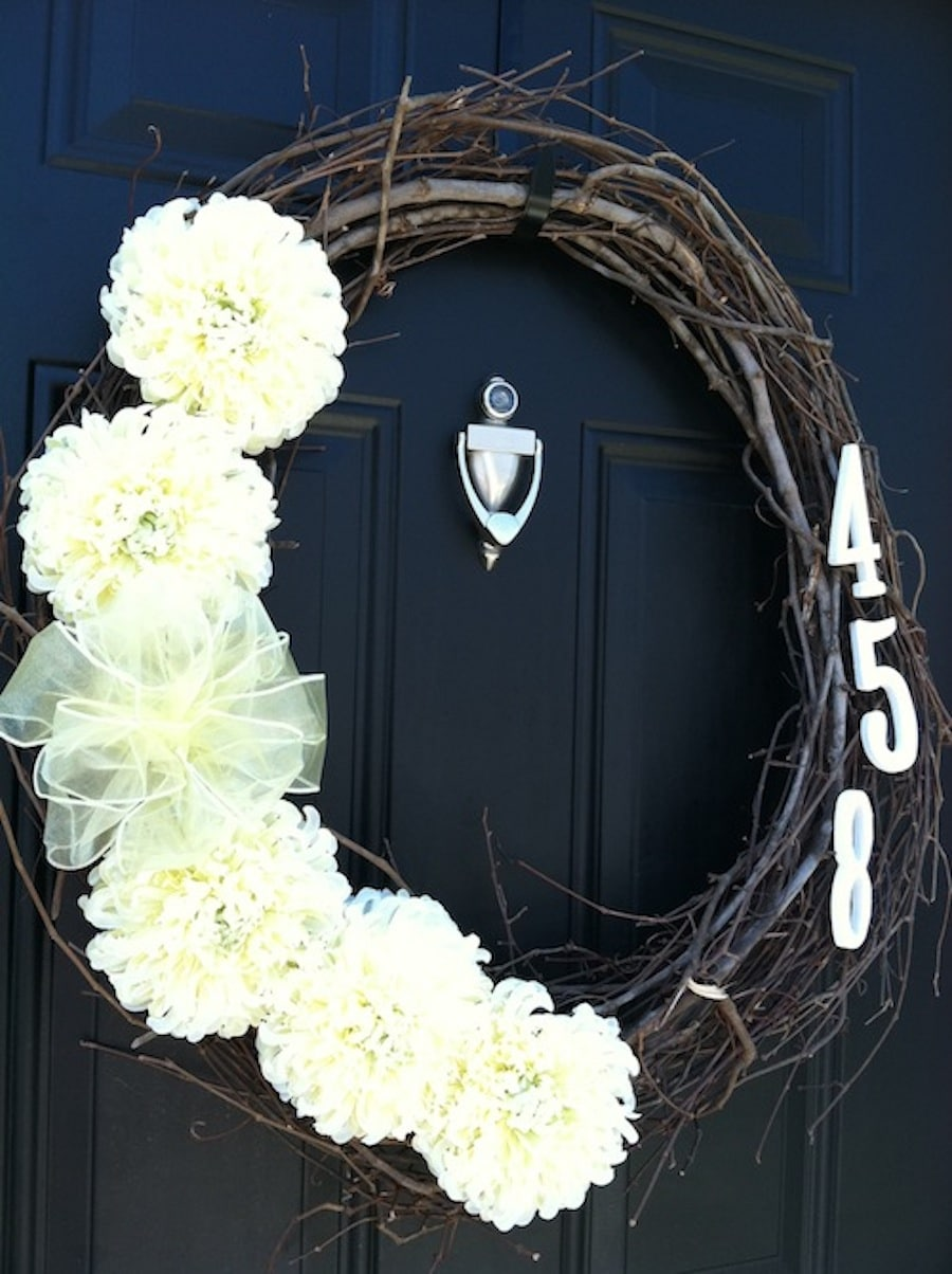 DIY Address Wreath