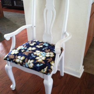 How to refinish and reupholster a dining chair