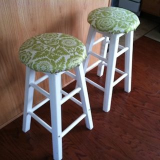 How to upholster a stool