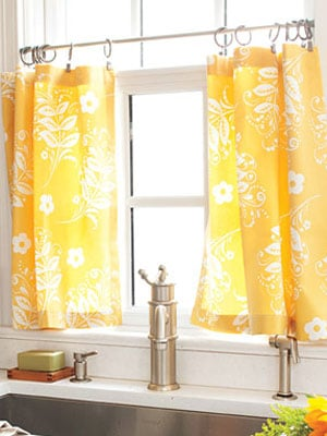 cute diy cafe curtains