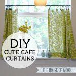 DIY Cute Cafe Curtains