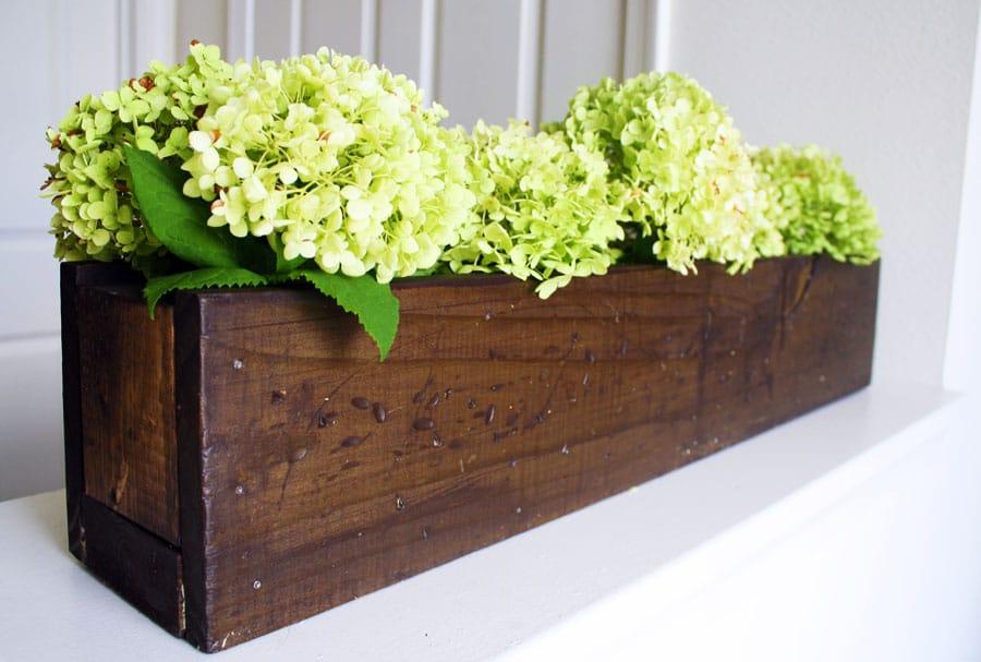 Diy plant box centerpiece