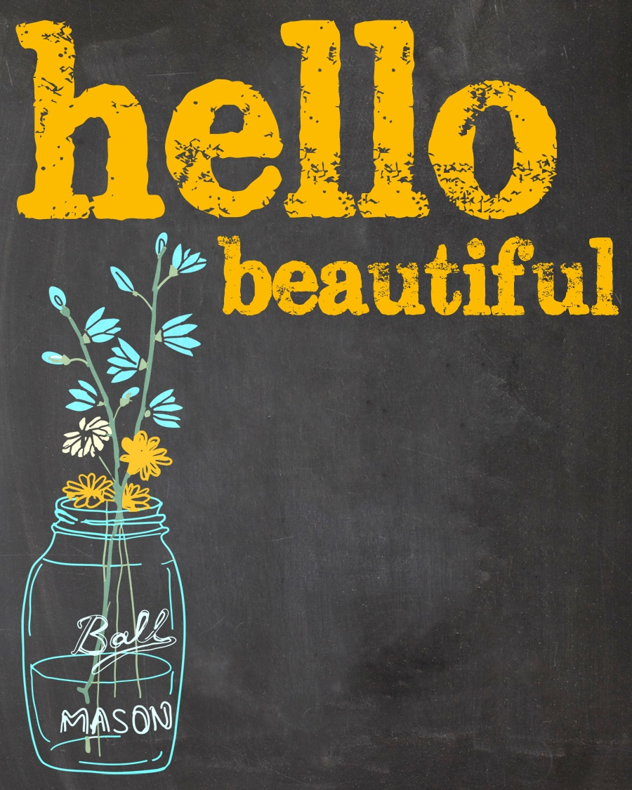 Hello Beautiful {Free Printable}