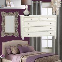 Plum and Pretty Master Bedroom Mood Board