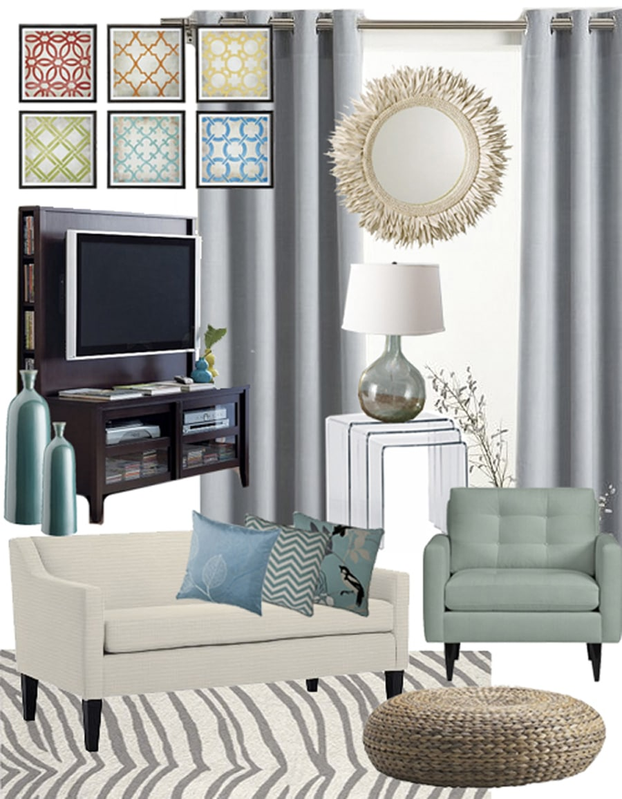 living room mood board airy and aqua living room mood board 16730