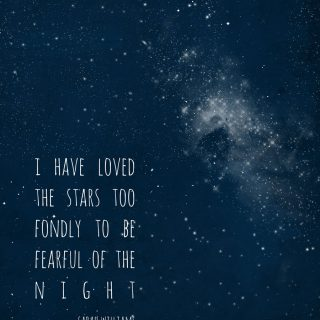 I Have Loved The Stars Too Fondly {Free Printable}