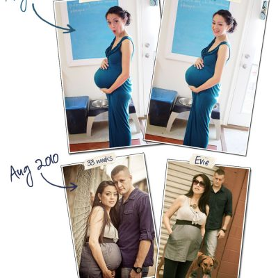 Preggo Jen: A 33/34 Week Comparison
