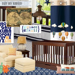 Baby Boy Nursery Mood Board