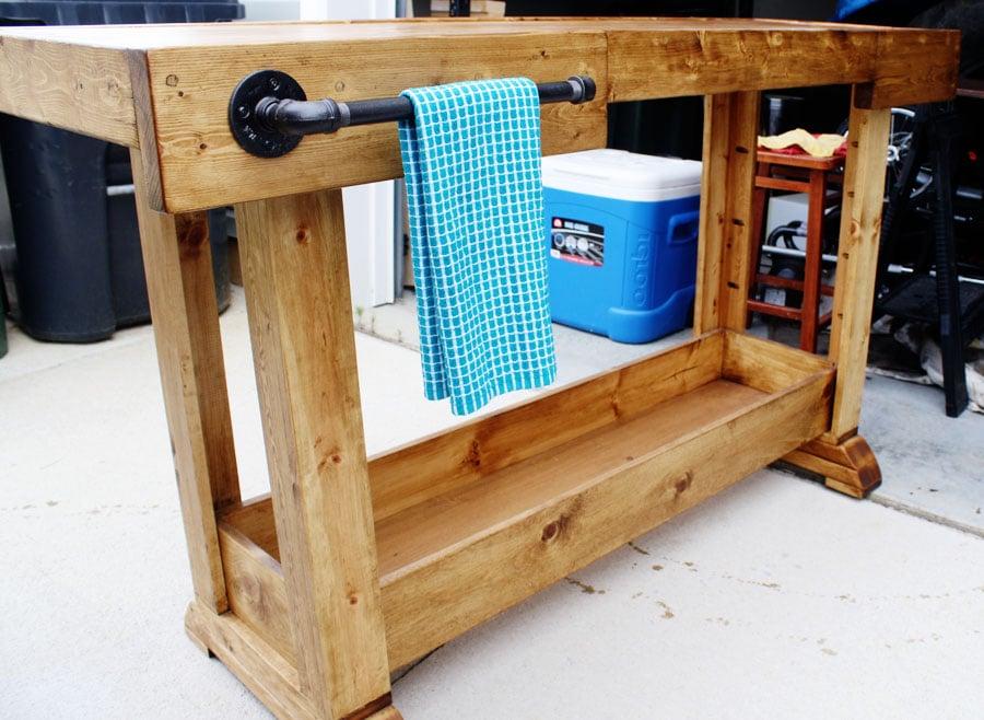 DIY Pottery Barn Console by Jen Woodhouse
