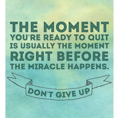 Don't Give Up {Free Printable}