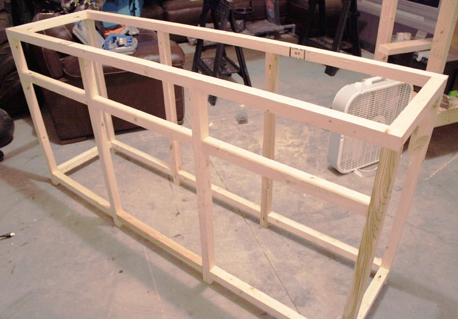 Frame Built The House Of Wood