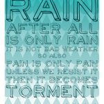 Rain Is Only Rain {Free Printable}
