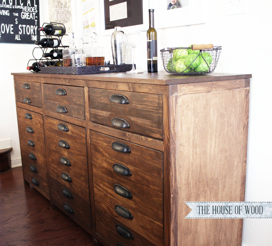 Diy restoration hardware printmakers sideboard - Restoration hardware cabinets ...