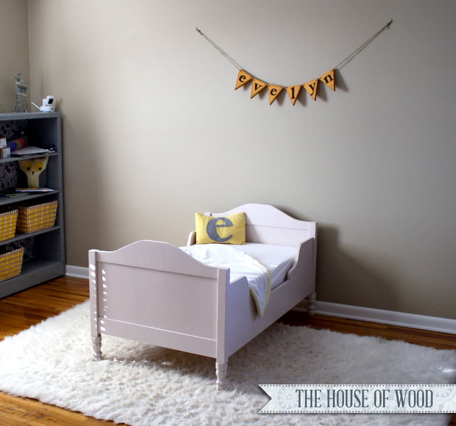 DIY Restoration Hardware-inspired Toddler Bed