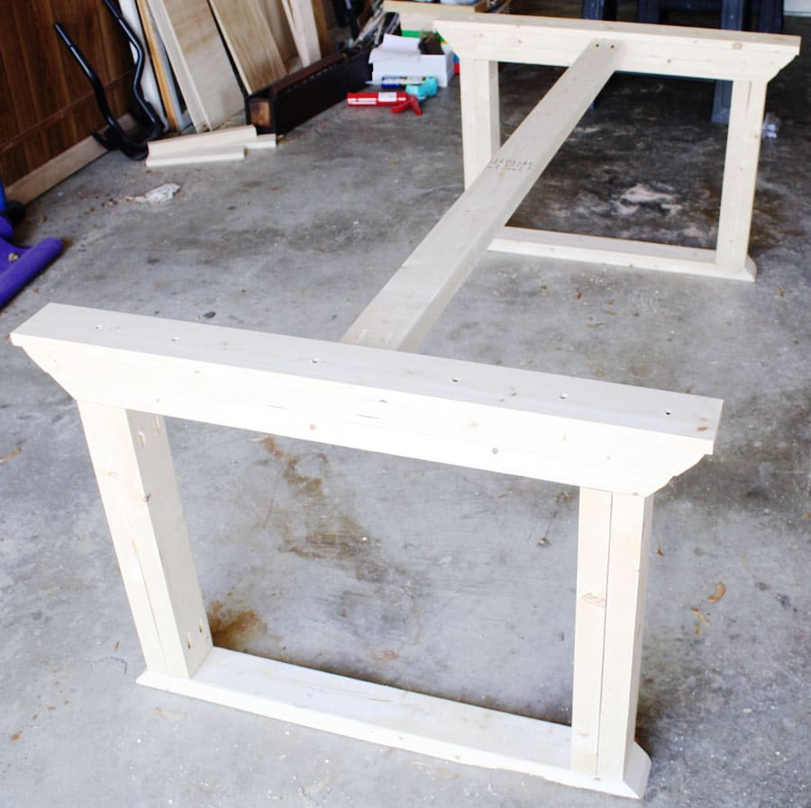 How to build a farmhouse table for Farmhouse table plans with x legs