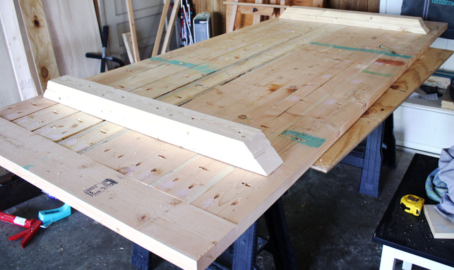 Diy Dining Room Table With  Boards