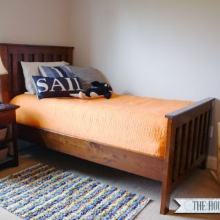 DIY Restoration Hardware Twin Bed