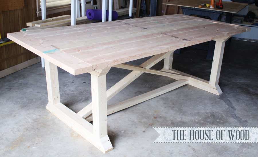 How to build a farmhouse table for Kitchen table plans