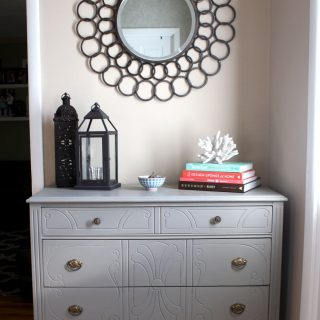 DIY refinished antique vintage dresser