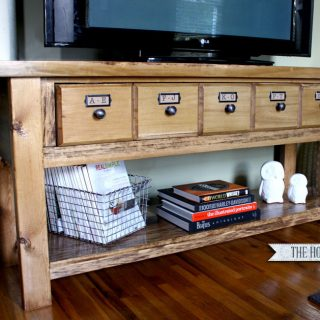 Pottery Barn-Inspired Media Console