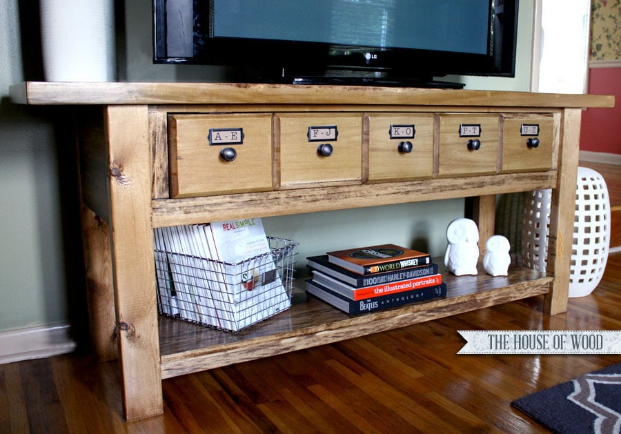 DIY Pottery Barn TV Stand - Pottery barn tv table