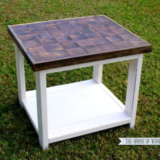 End Grain End Table