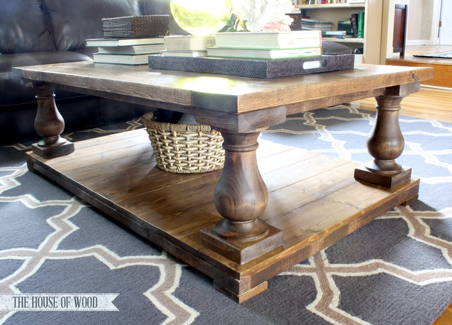 Diy restoration hardware inspired coffee table for Diy coffee and end tables