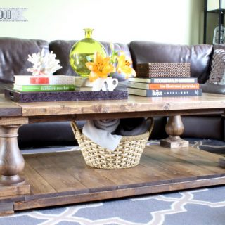 Large Balustrade Coffee Table