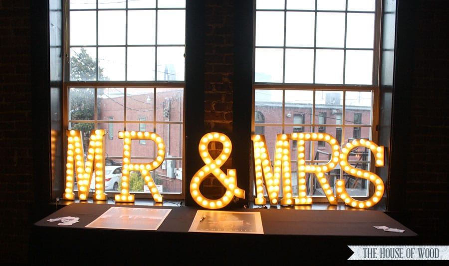 DIY Light Up Wedding Marquee