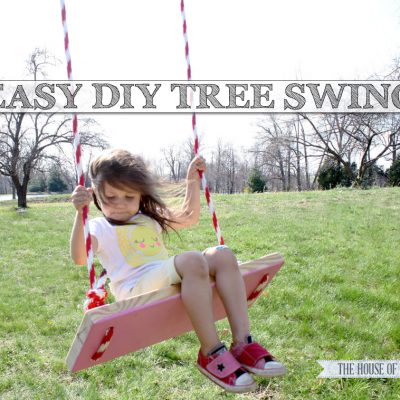 Make this easy DIY tree swing! So cute for summertime! | www.jenwoodhouse.com/blog