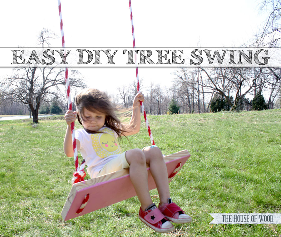 Make this easy DIY tree swing! So cute for summertime! | www.jenwoodhouse.com/blog