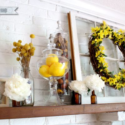 Cheerful Spring Mantel