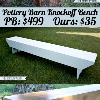 How to build a DIY Pottery Barn-Inspired Bench
