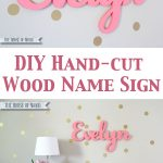 Hand-Cut Custom Wood Name Signs
