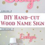 Hand-Cut Custom Wood Name Signs