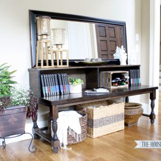 DIY Foyer Console Table by Jen Woodhouse