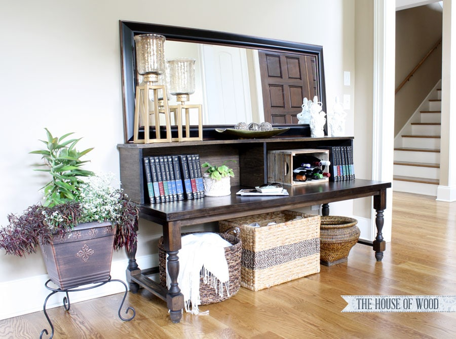 DIY Foyer Console Table by Jen Woodhouse