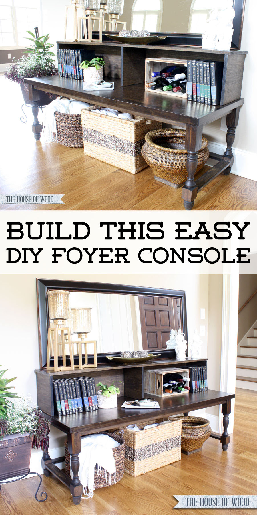 DIY Foyer Console Table