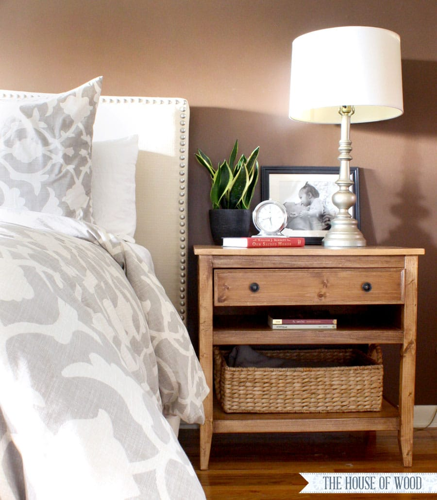 Diy bedside table nightstand Things to use as nightstands