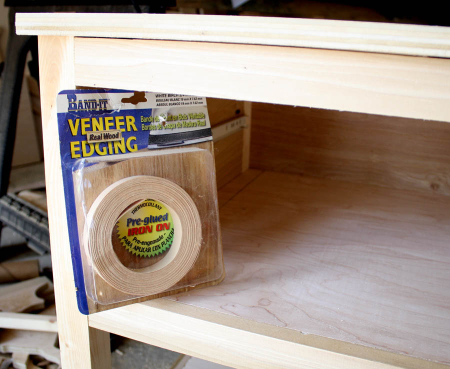 Iron-on veneer edge banding