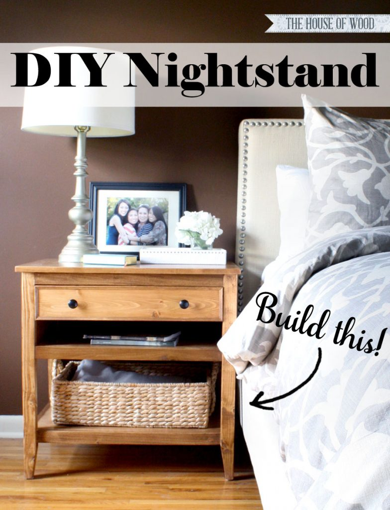 Build your own DIY nightstand bedside table