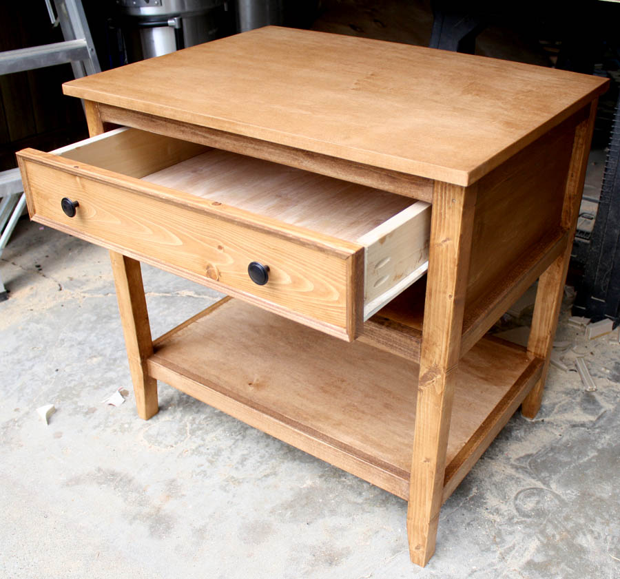 how to build a nightstand from scratch