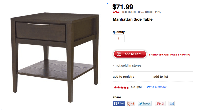 Target Manhattan End Table